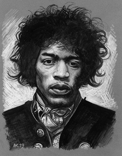 Jimi Hendrix por vanKristen